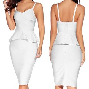 THE COURT REPORTER 2PIECE BANDAGE DRESS -WHITE NWT